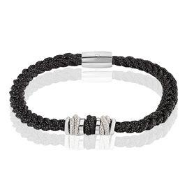 Bracelet Acier Et Or - Bracelets cordon Homme | Histoire d'Or
