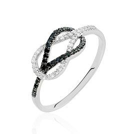 Bague Aman Or Blanc Diamant - Bagues avec pierre Femme | Histoire d'Or