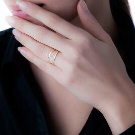 Bague Deborah Or Rose Diamant - Bagues avec pierre Femme   Histoire d'Or