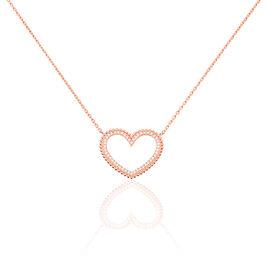 Collier Clolila Argent Rose Oxyde De Zirconium - Colliers Coeur Femme   Histoire d'Or