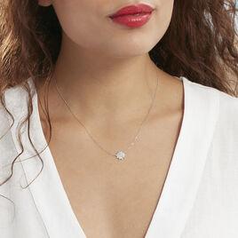 Collier Norria Or Blanc Diamant - Bijoux Femme | Histoire d'Or