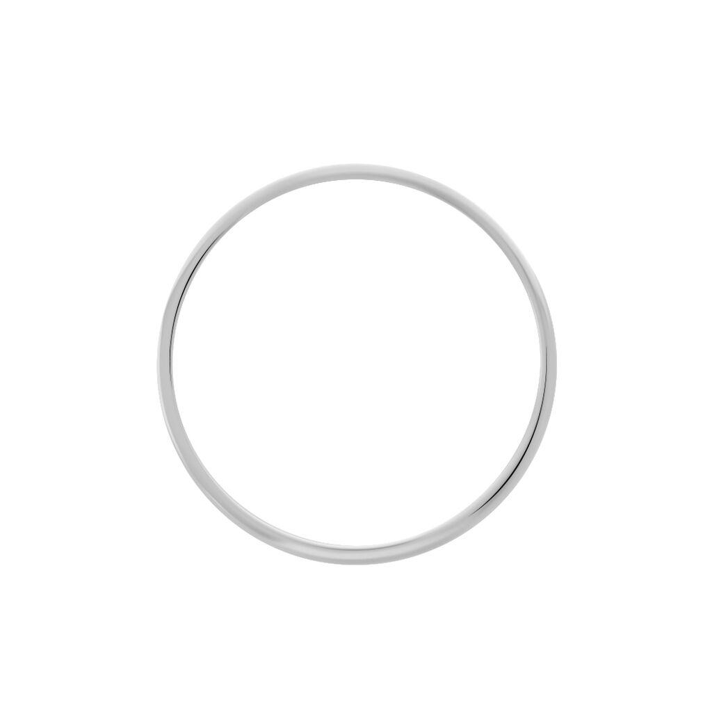 Alliance Julie Ruban Classique Platine Blanc - Alliances Famille | Histoire d'Or