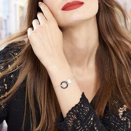 Bracelet Issara Argent Blanc Céramique Et Oxyde De Zirconium - Bracelets fantaisie Femme   Histoire d'Or