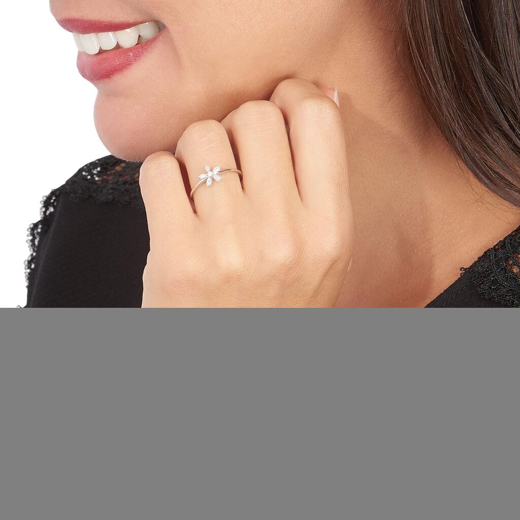 Bague Horcia Or Blanc Oxyde De Zirconium - Bagues avec pierre Femme | Histoire d'Or