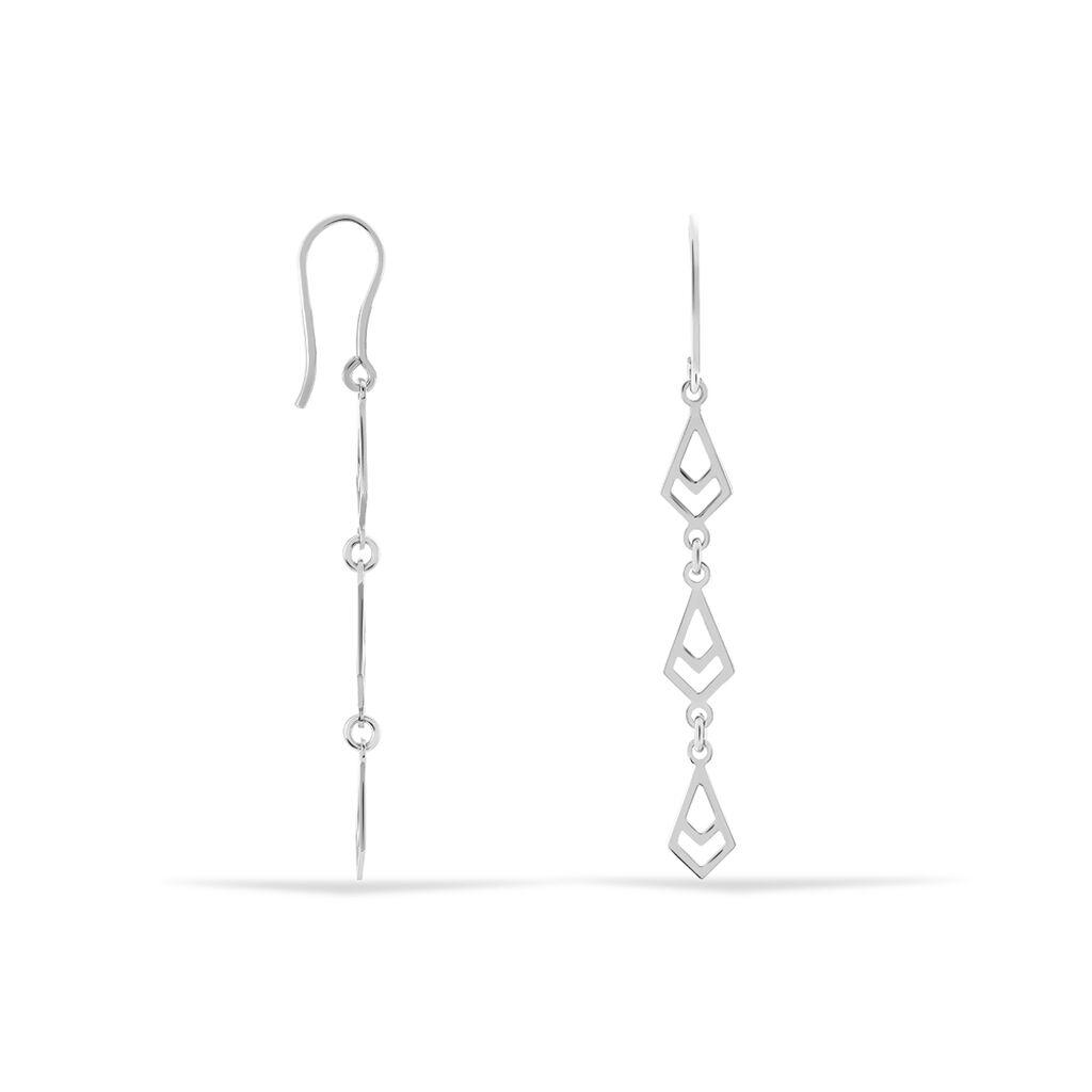 Boucles D'oreilles Pendantes Milijana Argent Blanc - Boucles d'oreilles fantaisie Femme | Histoire d'Or