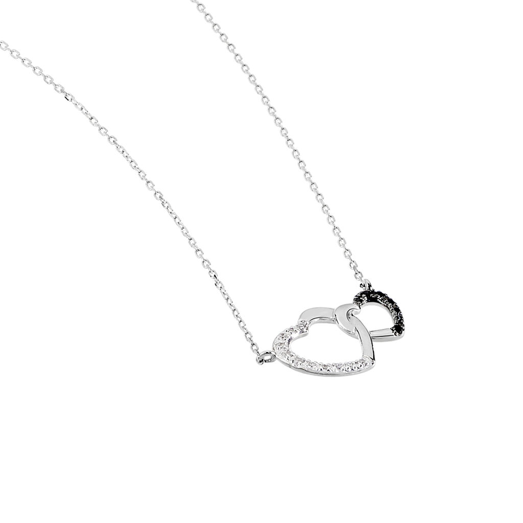 Collier Silana Or Blanc Diamant - Colliers Coeur Femme | Histoire d'Or