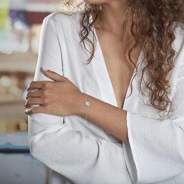 Bracelet Nawala Argent Blanc Oxyde De Zirconium Et Nacre - Bracelets fantaisie Femme   Histoire d'Or