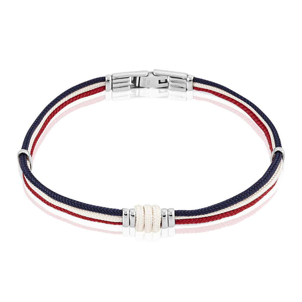 Bracelet Floryseae Acier Blanc - Bracelets cordon Homme | Histoire d'Or