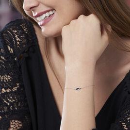 Bracelet Trinitie Or Blanc Saphir Diamant - Bijoux Femme | Histoire d'Or