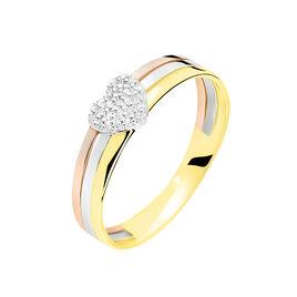 Bague Come Or Tricolore Diamant - Bagues Coeur Femme | Histoire d'Or