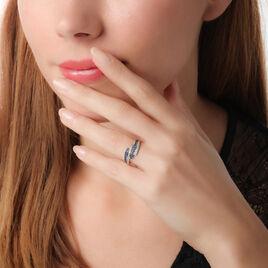 Bague Shina Or Blanc Saphir Et Diamant - Bagues avec pierre Femme   Histoire d'Or
