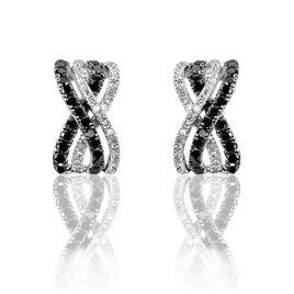 Boucles D'oreilles Puces Julianne Or Blanc Diamant - Clous d'oreilles Femme | Histoire d'Or