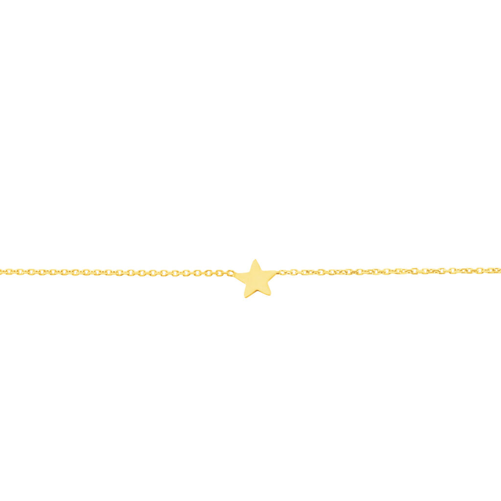 Bracelet Tinia Or Jaune - Bijoux Etoile Femme   Histoire d'Or