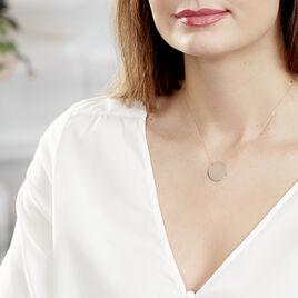 Collier Pastille Gravable Or Rose - Bijoux Femme | Histoire d'Or
