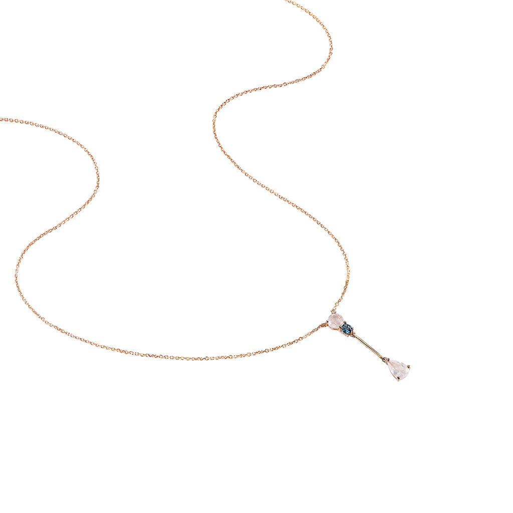 Collier Belen Or Rose Topaze Et Quartz - Bijoux Femme | Histoire d'Or