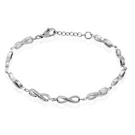 Bracelet Daphne Acier Blanc - Bracelets Infini Femme   Histoire d'Or