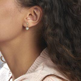 Boucles D'oreilles Pendantes Phaenna Or Jaune Oxyde De Zirconium - Boucles d'oreilles pendantes Femme   Histoire d'Or