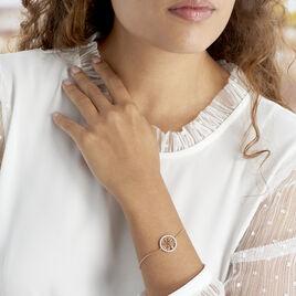 Bracelet Theolina Plaque Or Jaune Oxyde De Zirconium - Bracelets Arbre de vie Femme | Histoire d'Or
