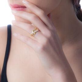 Bague My-linh Or Jaune Oxyde De Zirconium - Bagues avec pierre Femme   Histoire d'Or
