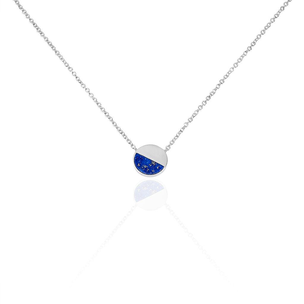 Collier Susanna Argent Blanc Lapis Lazuli - Colliers fantaisie Femme | Histoire d'Or