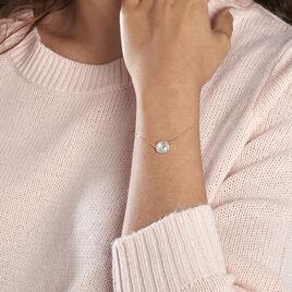 Bracelet Or Jaune Ludmille Oxyde De Zirconium - Bijoux Femme | Histoire d'Or