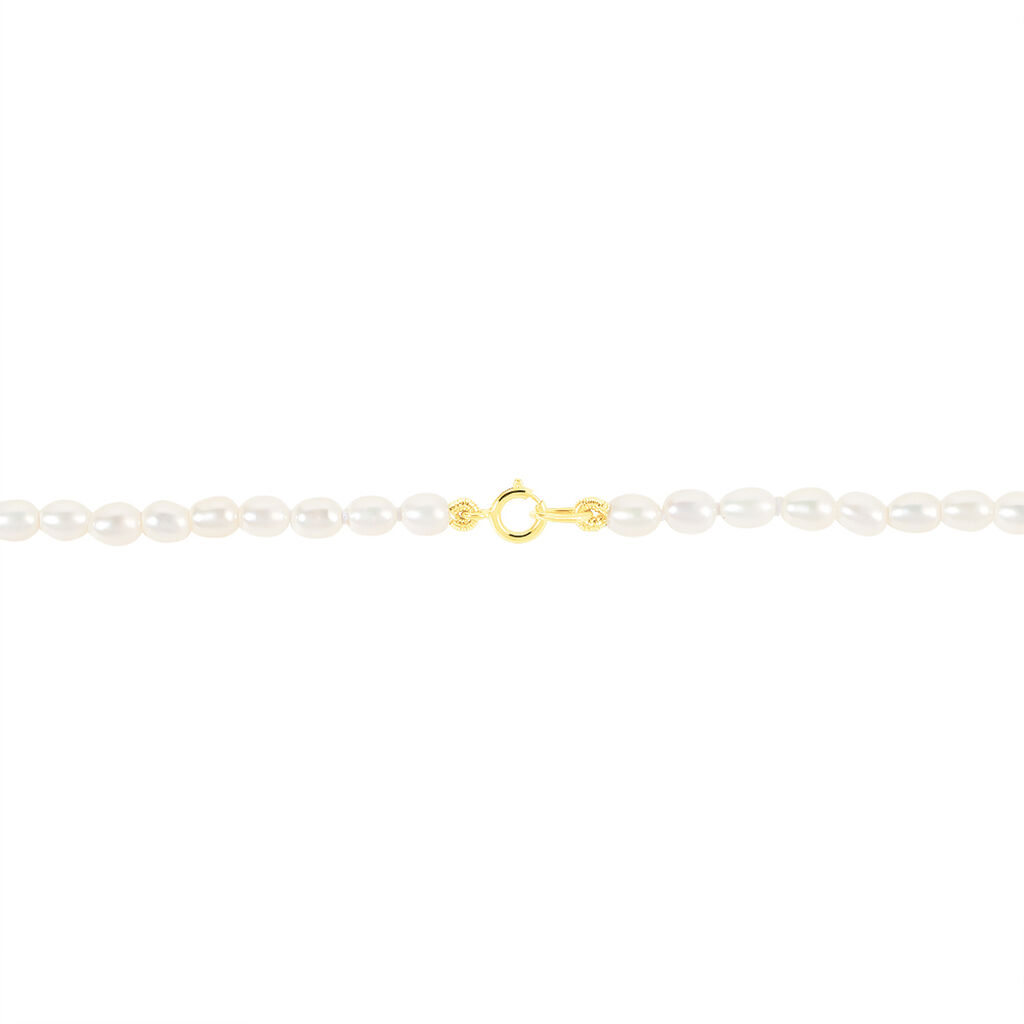 Collier Alceste Or Jaune Perle De Culture