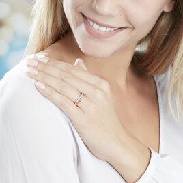 Bague Bertheline Argent Rose Oxyde De Zirconium - Bagues solitaires Femme | Histoire d'Or