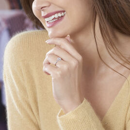 Bague Star Or Blanc Oxyde De Zirconium - Bagues solitaires Femme | Histoire d'Or