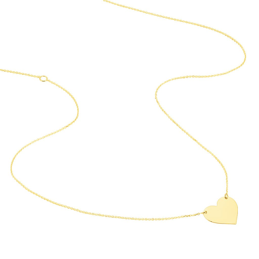 Collier Helenia Coeur Gravable Or Jaune