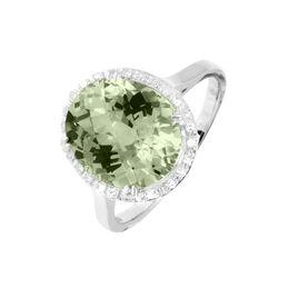 Bague Anna Or Blanc Amethyste Et Diamant - Bagues avec pierre Femme | Histoire d'Or