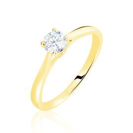 Bague Solitaire Fiona Or Jaune Diamant Synthetique - Bagues avec pierre Femme   Histoire d'Or