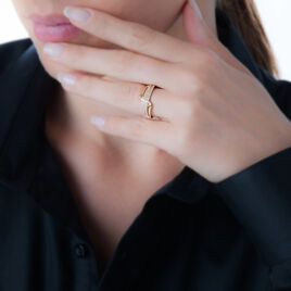 Bague Camille-marie Plaque Or Jaune Oxyde De Zirconium - Bagues avec pierre Femme | Histoire d'Or