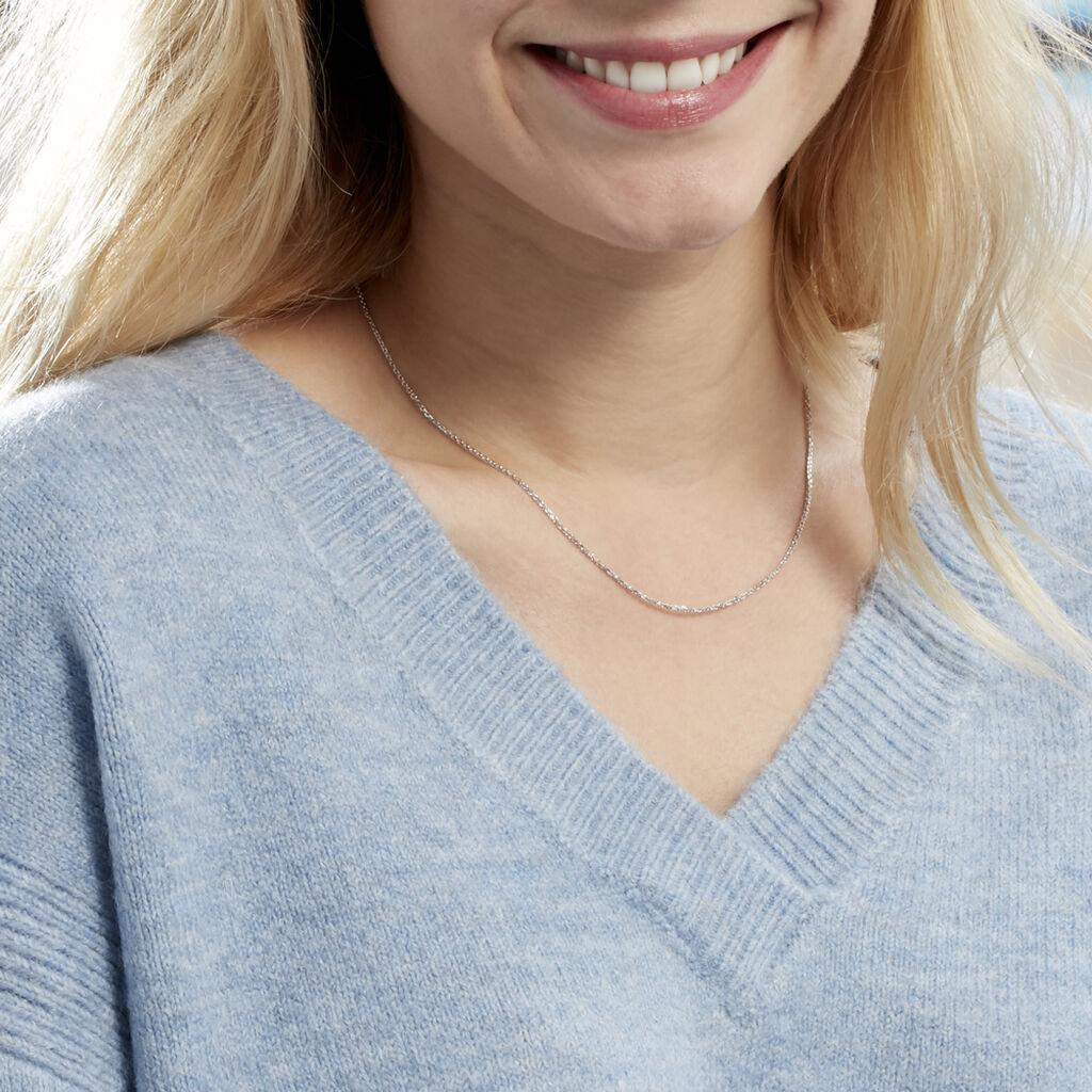 Chaîne Claudine Maille Forcat Argent Blanc - Chaines Femme | Histoire d'Or
