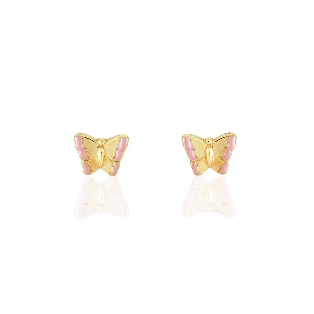 Boucles D'oreilles Puces Bartholomée Papillon Or Jaune - Boucles d'Oreilles Papillon Femme | Histoire d'Or
