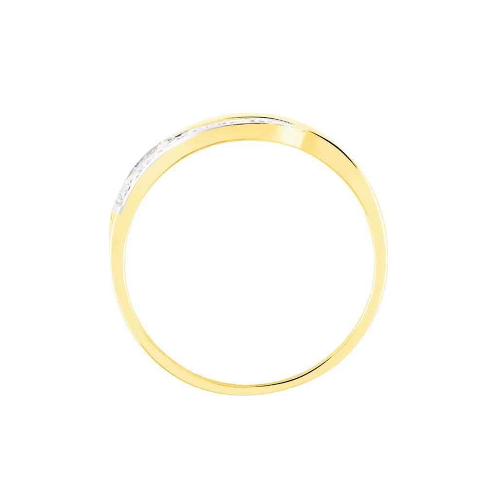 Bague Calypso Or Jaune Diamant - Bagues avec pierre Femme | Histoire d'Or