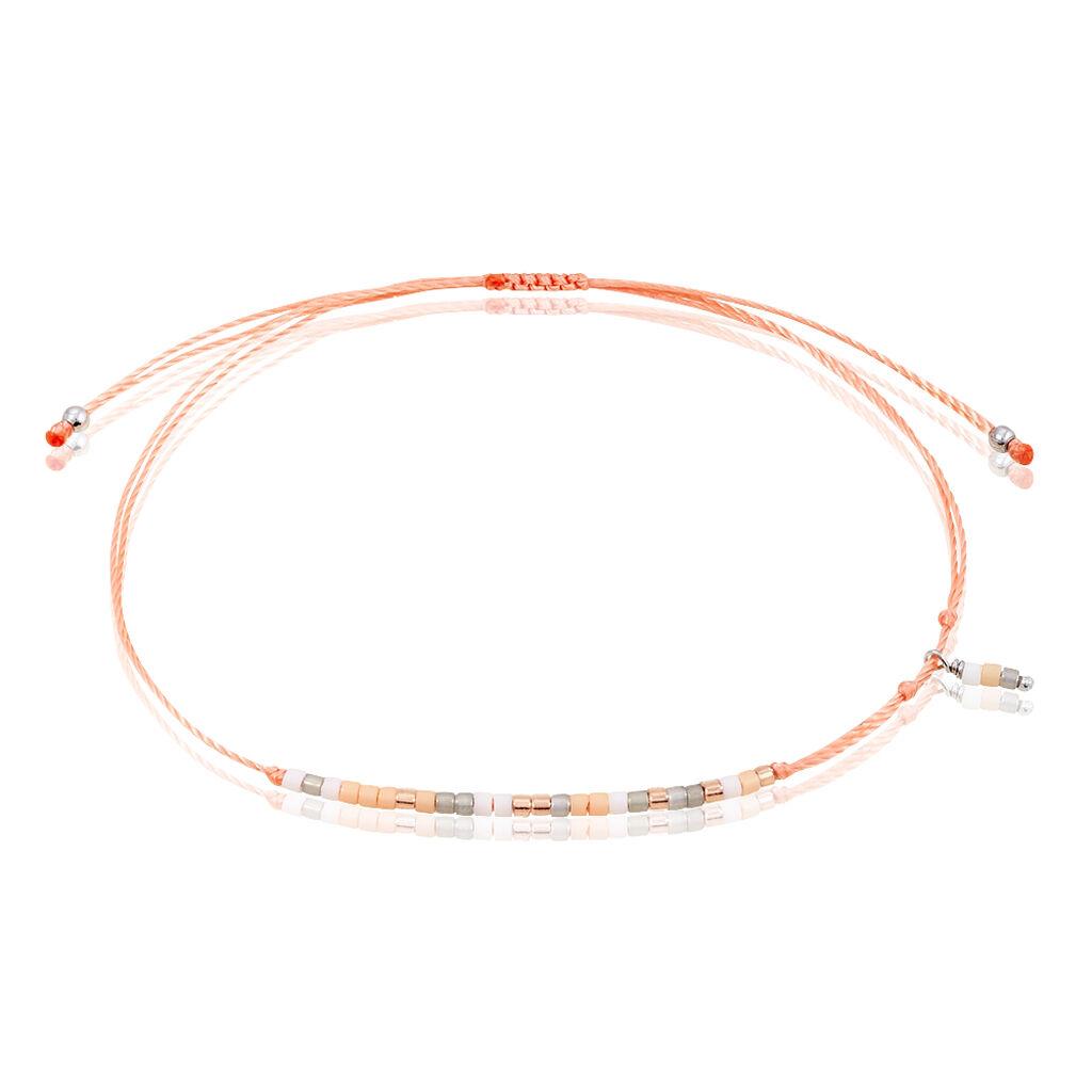 Bracelet Ninon Argent Rose Perle D'imitation Et Chrysoprase - Bracelets cordon Femme   Histoire d'Or