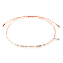 Bracelet Ninon Argent Rose Perle D'imitation Et Chrysoprase - Bracelets cordon Femme | Histoire d'Or