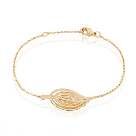 Bracelet Enora Plaque Or Jaune - Bracelets Plume Femme | Histoire d'Or