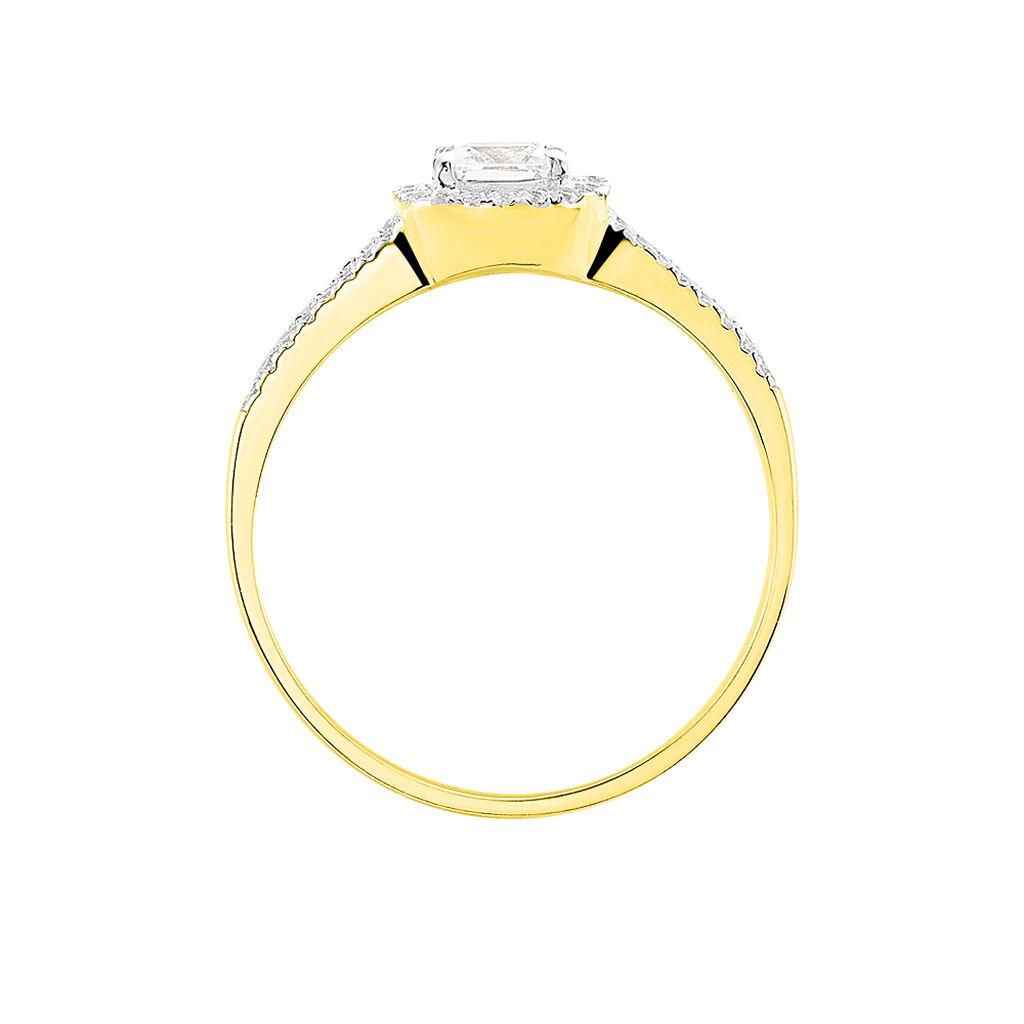 Bague Solitaire Cillian Or Jaune Oxyde De Zirconium - Bagues avec pierre Femme   Histoire d'Or