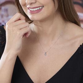 Collier Teresa Or Blanc Topaze Et Diamant - Bijoux Femme | Histoire d'Or
