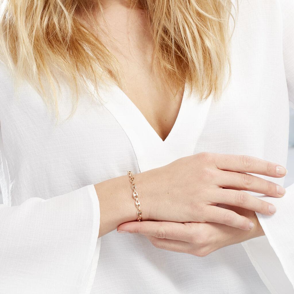Bracelet William Plaque Or Jaune - Bracelets chaîne Femme   Histoire d'Or