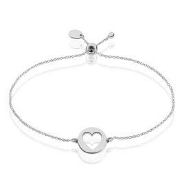 Bracelet Lovila Argent Blanc - Bracelets Coeur Femme   Histoire d'Or