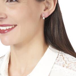 Boucles D'oreilles Pendantes Andreane Or Jaune Oxyde De Zirconium - Boucles d'oreilles pendantes Femme   Histoire d'Or