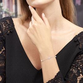 Bracelet Anilie Argent Blanc Perle De Culture Et Oxyde De Zirconium - Bracelets fantaisie Femme   Histoire d'Or