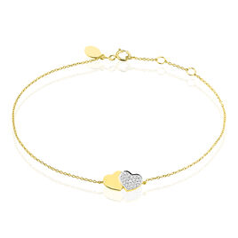 Bracelet Etherie Or Jaune Diamant - Bracelets Coeur Femme   Histoire d'Or