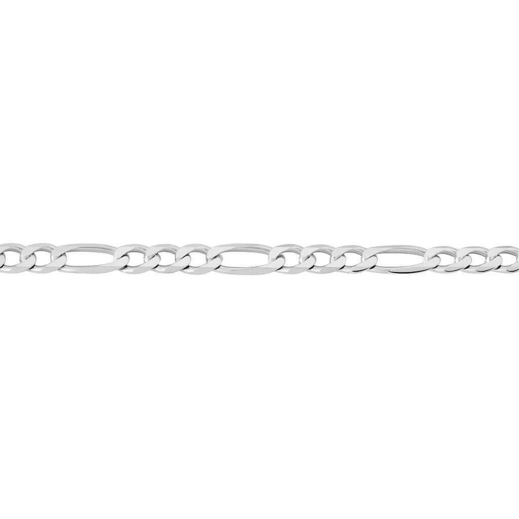 Bracelet Vivian Maille Alternee 1/3 Argent Blanc - Bracelets chaîne Homme | Histoire d'Or