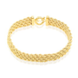 Bracelet Jerry Maille Corde 4 Rangs Or Jaune - Bracelets chaîne Femme   Histoire d'Or