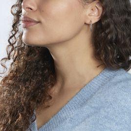 Créoles Abie Fil Lisse Argent Blanc - Boucles d'oreilles créoles Femme | Histoire d'Or
