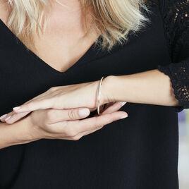 Bracelet Jonc Isa Diamante Or Jaune - Bracelets joncs Femme   Histoire d'Or