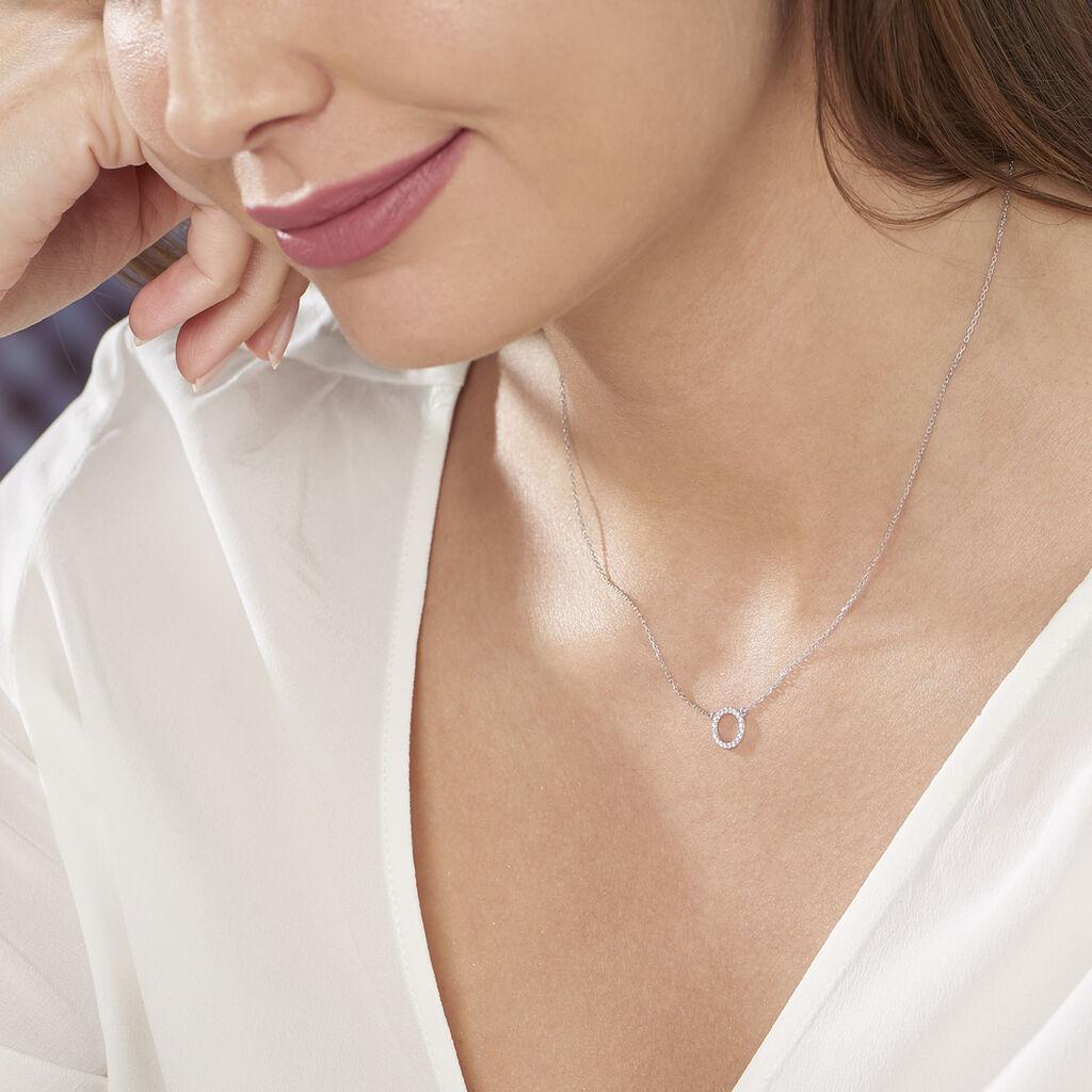 Collier Lim Or Blanc Oxyde De Zirconium - Bijoux Femme   Histoire d'Or